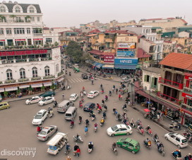 Hanoi Old Quarter see from above - Hanoi daily tour