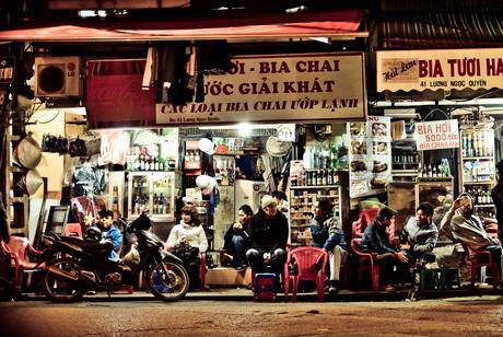 Ta Hien Street at night Hanoi Old Quarter walking  tour