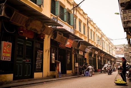 Ta Hien Streer in the early morning - Hanoi walking tour