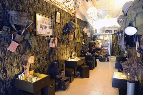 Inside Cafe Linh in Hang Buom Street