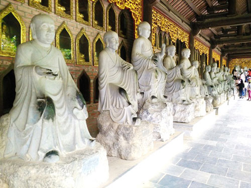 Statues at Bai Dinh Pagoda - Day trip from Hanoi