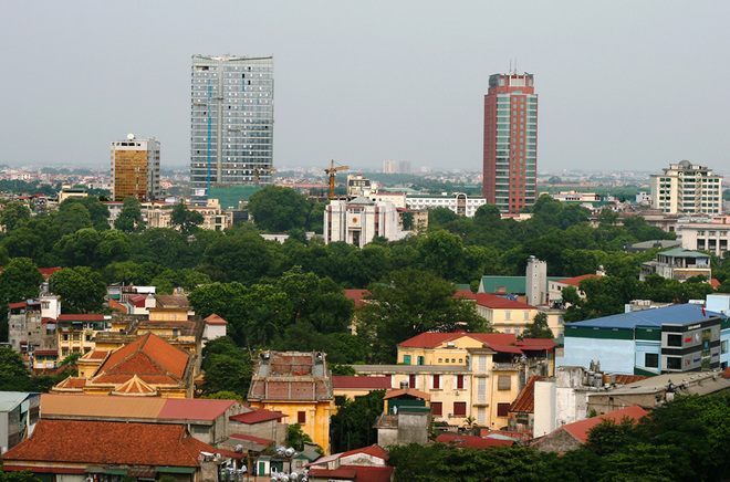 Flycams green Hanoi Downtown and Hoan Kiem Lake - Travel to Hanoi