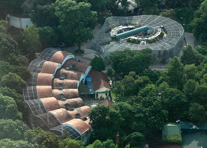 Flycams green Hanoi ancient trees Thu Le Zoo - Travel to Hanoi