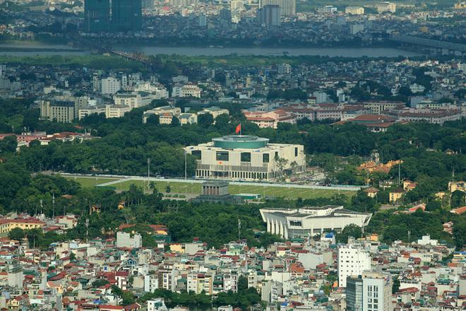 Flycams green Hanoi at orchards at Ho Chi Minh Mausoleum - Travel to Hanoi