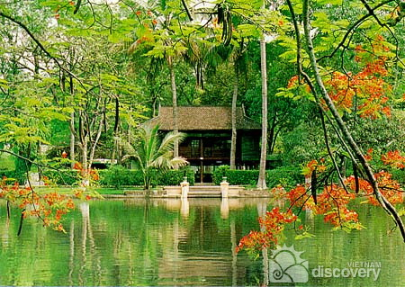 Uncle Ho's fish pond inside his Residence - Hanoi city tour in half-day