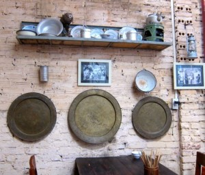 Objects hanging on Mau Dich Restaurants - Tour in Hanoi