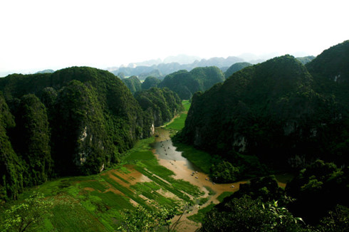 Tam Coc view from the Mua Mountain - day tour from Hanoi
