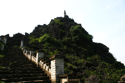 One tower locates on the Mua Mountain - Tour from Hanoi