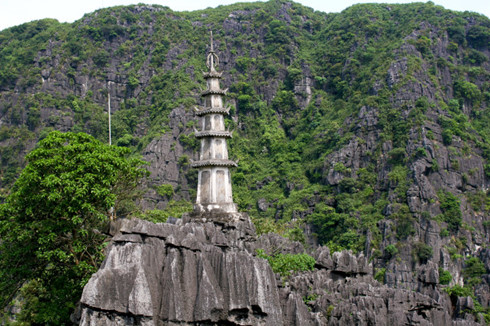 Another tower on the peak of Mua Mountain - Tour from Hanoi