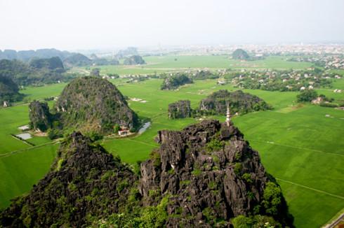 View from Mua Mountain's peak - Tour from Hanoi
