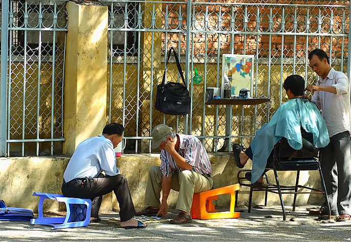 Getting haircut - Things to do in Hanoi