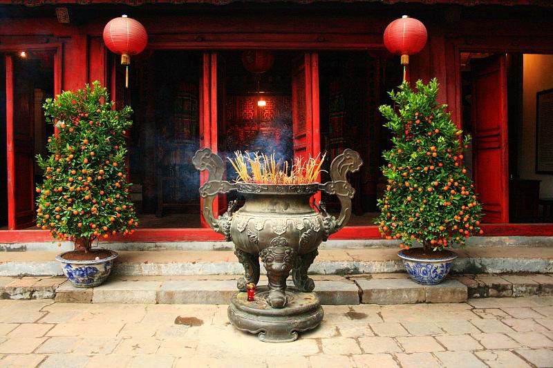 Inside Ngoc Son Temple Hoan Kiem Lake - Hanoi city tours