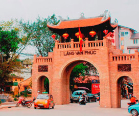 Entrance gate of Van Phuc Silk Village - Hanoi day trip