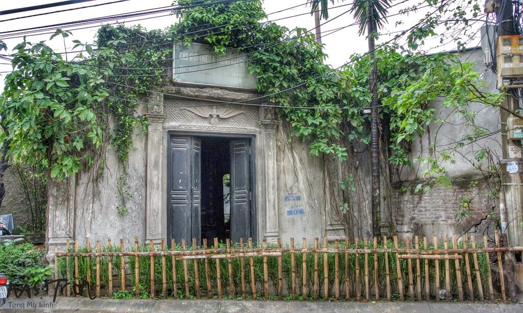 Entrance gate to Van Van Cycling day tour in Hanoi