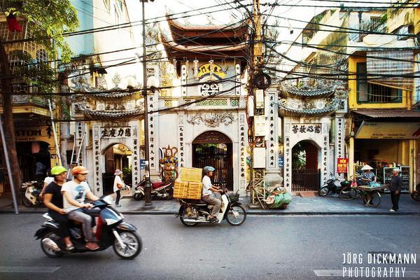 Traffic in Hanoi Old Quarter - Tours in Hanoi