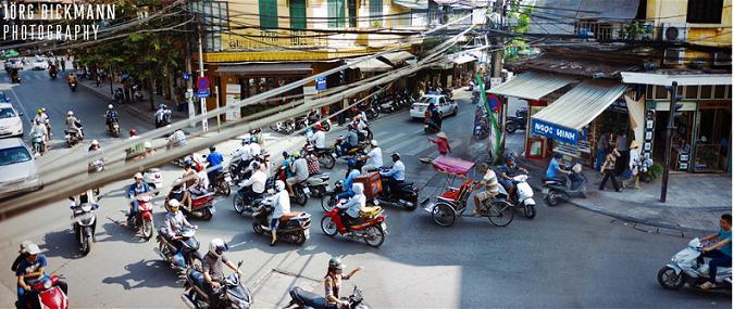 Traffic in Hanoi Old Quarter 12 - Tours in Hanoi