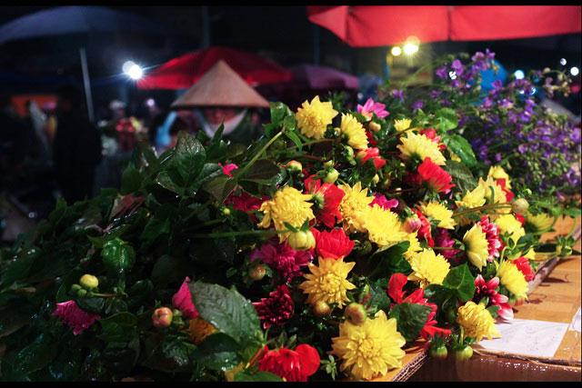 Night flower market in Hanoi - Hanoi tours