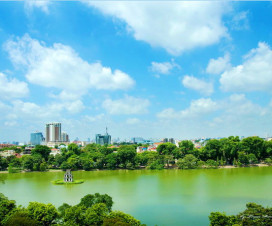 Hoan Kiem Lake Beautiful in four seasons - Hanoi city tour
