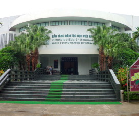 The entrance gate of Museum of Ethnology - Hanoi museum tour