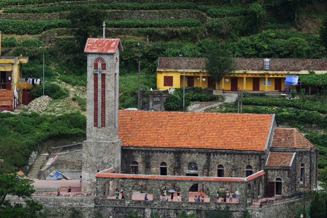 Overview of ancient stone church in Tam Dao - Short trip from Hanoi