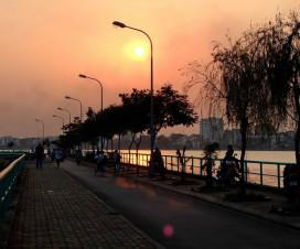 South Korea Roat in the sunset - Hanoi travel guide