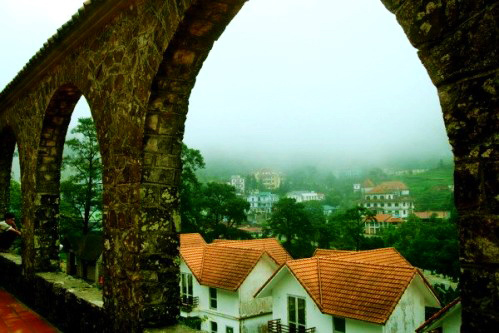 Tam Dao view from the stone church - Short trip from Hanoi