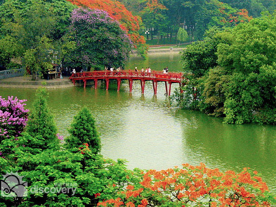 Spend time exploring Hanoi attractions like The Huc Bridge, Ngoc Son Temple ...