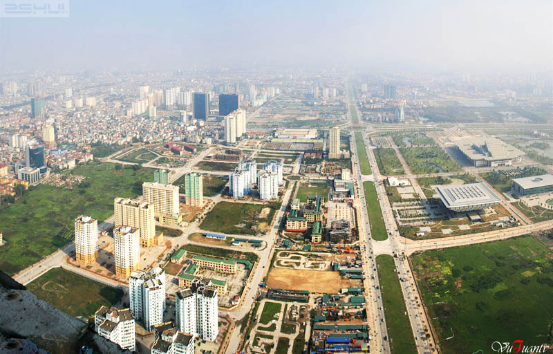 Overview of Nam Trung Yen urban area taken from Keangnam tower - hanoi attractions