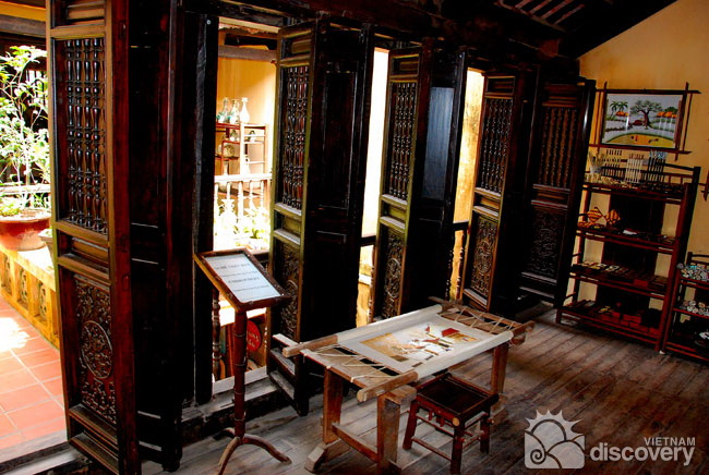 Inside the ancient house in Ma May Street - Hanoi walking tour