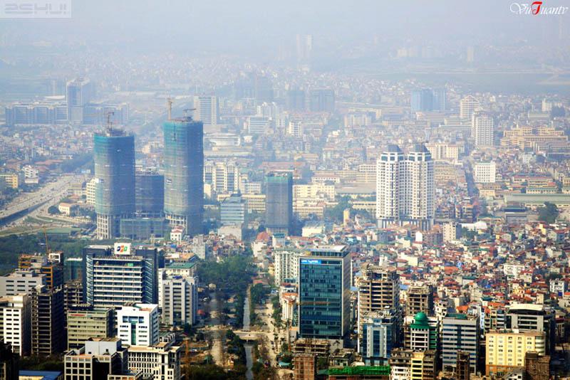 Cau Giay Urban area seen from Keangnam Hanoi Landmark tower - things to do in Hanoi