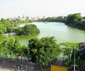 Hoan Kiem Lake View - Hanoi city tours