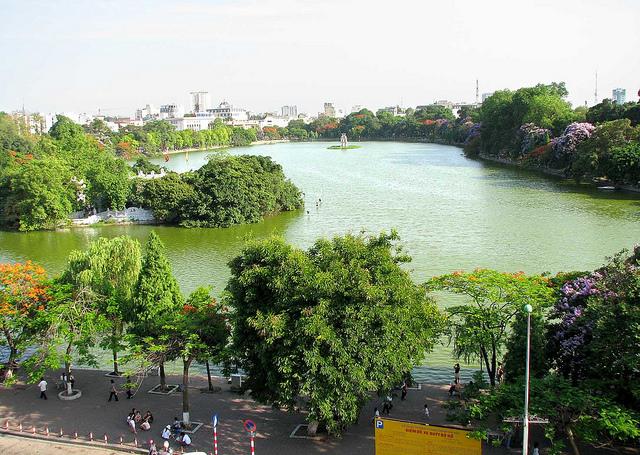 Hoan Kiem Lake Panorama - Hanoi city tours