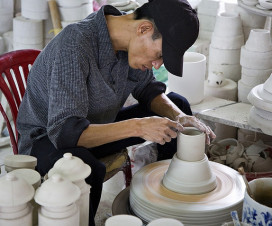 Making pottery product in Bat Trang Village - Day trips in Hanoi
