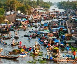 Mekong Floating Market experience in Hanoi - hanoi day trips
