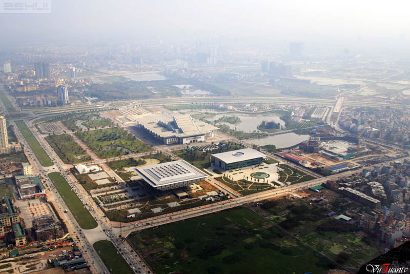 National Convention Center in Hanoi seen from the Keangnam Tower - hanoi travel tips